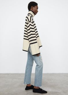 Denim Fashion, Fashion Outfits, Fashion Weeks, Striped Turtleneck, Outfits With Converse, How To Purl Knit, Live Fashion, Diy Clothes, Knitwear