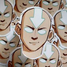 Waterproof Aang sticker!.