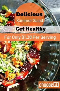 With the summertime, comes a wide variety of fresh produce to choose from. Which makes is a great time for a delicious summer salad! Best Summer Salads, Summer Salad Recipes, Frugal Meals, Frugal Recipes, Cooking Recipes, Types Of Salad, Food Cost, Large Salad Bowl, Fruit In Season