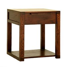 Bedroom furniture-Chatel Bedside table Made from Ash & Ash Veneers Price-Rs.10,249/- Click on the image to buy online