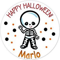 40 labels Circle Halloween kid skeleton Party Stickers, Personalized Labels, Custom Party Favor Tags, Choice of Size Halloween Labels, Halloween Stickers, Halloween Kids, Party Favor Tags, Personalized Stickers, Skeleton, Happy, Personalised Stickers, Skeletons