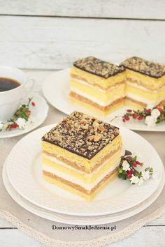 ciasto babie lato | Domowy Smak Jedzenia .pl Polish Cake Recipe, Polish Recipes, No Bake Desserts, Delicious Desserts, Dessert Recipes, Apple Cake Recipes, Cookie Recipes, Italian Pastries, Homemade Cakes