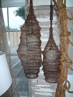 hanging fish trap lights. Similar to Mance Design