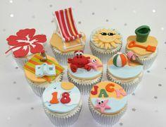 Sunny beach cupcakes