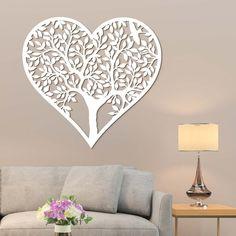 Drevený strom na stenu - Srdce | DUBLEZ Challenge, Furniture, Board, Home Decor, Decoration Home, Room Decor, Home Furnishings, Home Interior Design, Planks