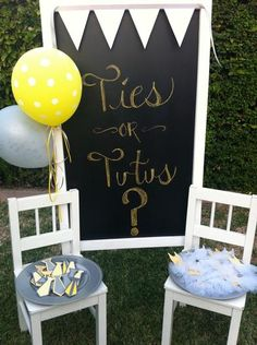 Hostess with the Mostess® - Ties or Tutus - gender reveal party