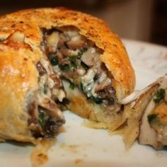 Vegetarian Portobello Wellington for Jeremy to go with the beef Wellington
