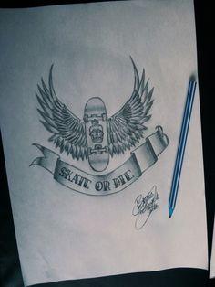 Skate tattoo art