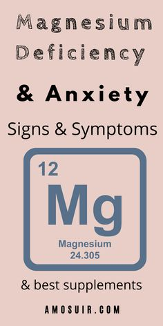 Magnesium deficiency impacts anxiety, but also overall mental and physical health. Learn about signs and symptoms, as well as best supplements. amosuir.com Magnesium Deficiency Causes, Magnesium For Anxiety, Natural Anti Anxiety, Meditation For Anxiety, Affirmations For Anxiety, How To Calm Anxiety, Restless Leg Syndrome