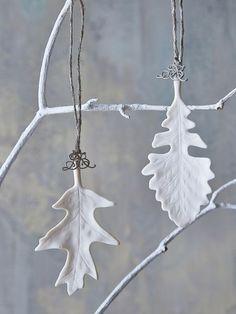 white leaf ornaments <3