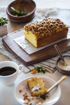 Orange Polenta Loaf Cake with Almond & Oat Streusel: An easy-to-make polenta cake topped off with almond and oat streusel. Perfect loaf cake to accompany your afternoon tea-time or coffee.