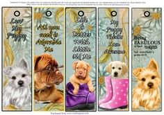5 Very Cute Puppy Bookmarks  2 on Craftsuprint - View Now!