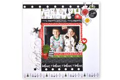 Illustrated Faith CHRISTmas Collection | Sweet Joy Layout by Amy Heller