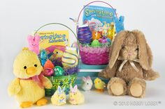 Easter is just around the corner! Get their baskets ready with perfectly plush stuffed animals and other goodies!