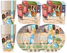 Peter Rabbit Large Scallop Edge Napkins | Easter Ideas | Pinterest | Peter rabbit Easter and Peter rabbit party  sc 1 st  Pinterest & Peter Rabbit Large Scallop Edge Napkins | Easter Ideas | Pinterest ...