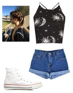 Untitled #230 by fangirlmuch on Polyvore featuring polyvore, fashion, style, Motel, Converse and Levi's