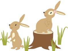 Forest Animals, Woodland Animals, Nursery Wall Decal, Nursery Decal, Bunniy Rabbit decal, bunnies, bunny decal, Friendship Falls decal