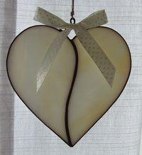 Serce ze szkła witrażowego  Stained glass heart