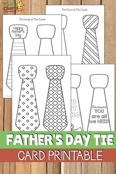 Finding the perfect Father's Day card may seem like an impossible feat. That's why KiddyCharts is offering this adorable free printable father's day tie card. day crafts This free printable father's day tie card is just perfect for Dad!