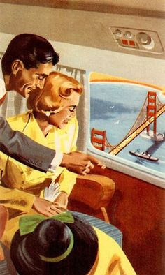 San Francisco by Air - detail from American Airlines travel brochure