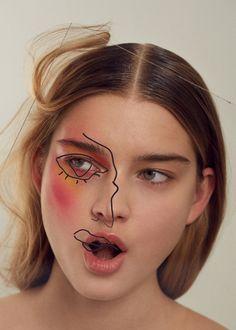 Margarita Vishnyakova photographed by Muriel Liebmann for Sicky Magazine Hair: Anna Lyles Makeup: Charlotte Prevel