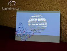 Folientechnik - Geburtstagskarte mit Schmetterling