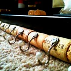 Things to do with wine corks; cork hooks  https://www.facebook.com/pages/ecorkland/425616767507050?ref=hl: