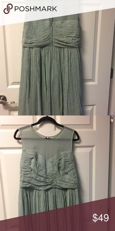 💰👇🏻silk chiffon J. CREW J. CREW size 20 NWOT moss color, chiffon dress.  💥💥💥J Crew dresses run small. 2-3 sizes. I will measure if interested, just ask please before you purchase!!!💥💥💥 J. Crew Dresses Prom
