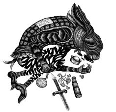 #art #ink #illustation #animals #rabbit #death #defeat #hopeless #artwork #blackandwhite #drawing