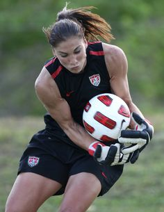 Biggest soccer role model. Hope Solo, the greatest Goalkeeper the world will ever know.