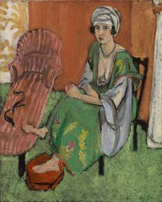 (via The Barnes Foundation - Object - Henri Matisse - The Green Dress (La Robe verte))