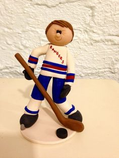 Hockey Player Cake topper hockey cake topper by CalledandChosen
