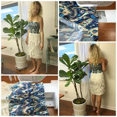 How to make a shirred dress with elastic thread.