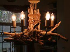 Driftwood Chandelier ,  five light, Drift Wood Light fitting  £150.00