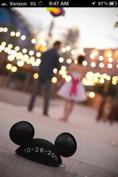 It's either this or writing the date on mickey balloons!!! My wedding needs at least a little disney magic in it