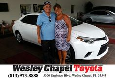 "https://flic.kr/p/uWmdbf | Congratulations to Joe and Joanne Cartelli on your #Toyota #Corolla from Andy Ghelfi at Wesley Chapel Toyota! #NewCar | <a href=""http://www.wesleychapeltoyota.com/?utm_source=Flickr&utm_medium=Dmaxx&utm_campaign=DeliveryMaxx"" rel=""nofollow"">www.wesleychapeltoyota.com/?utm_source=Flickr&utm_med...</a>"