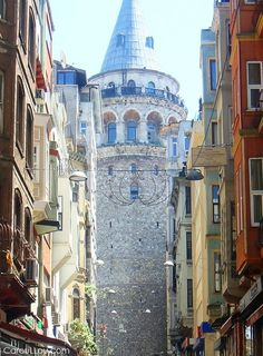 ISTANBUL - Turkey view of the old and famous Galata tower...walking the streets of the city is full of charistmatic angles ;-)