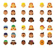avatares creados con la aplicación Esporti REvolution . ver+ en http://raulgomez.es/portafolio/esporti-revolution/