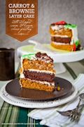 Carrot and Brownie Layer Cake Recipe | Eat the Love