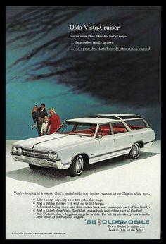 Oldsmobile Olds Vista-Cruiser Station Wagon Car 1965 Vintage Automobile AD