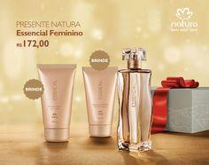 Presente Natura Essencial Feminino - Deo Parfum + Desodorante Hidratante + Sabonete Líquido + Embalagem Desmontada