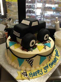 Monster truck cake, Sugarnomics Cake Studio Guam Truck Cakes, Car Cakes, Boy Birthday Parties, Birthday Ideas, Birthday Cake, Motorcycle Cake, Pastry Design, Monster Truck Birthday, Different Cakes