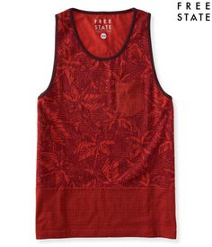 """The Free State Mosaic Floral Tank is good news for dudes who like to keep it casual. The pieced design features mosaic- and flower-patterned panels, while a chest pocket supplies a classic finish.<br><br>Authentic fit. Approx. length (M): 28.5""""<br>Style: 7575. Imported.<br><br>100% cotton.<br>Machine wash/dry."""
