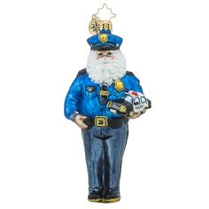"""Christopher Radko Law Enforcement Charity Ornament - """"Courageous Nick"""""""