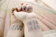 This is absolutely beautiful. Beatles tattoo