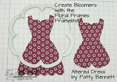 Altered dress 10 bloomers  Stampin' Up!