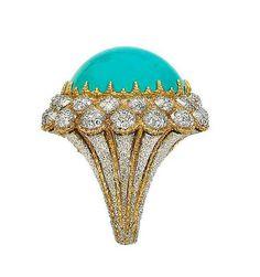 @Buccellati. Turquoise and diamonds ring