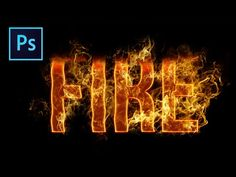 Fire Text Effect • Photoshop Tutorial