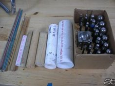 using pvc pipe,dowels ,knitting nedles,daping punches to shape small rings
