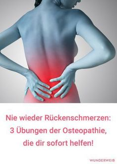 Never again back pain! What& wrong with osteopathy? Was es mit der Osteopathie auf sich hat, wie du ein… Never again back pain! What Osteopathy Is About, How to Find a Good Therapist – Plus Three Exercises for It - Daily Health Tips, Health Goals, Health Motivation, Health And Wellness, Health Fitness, Fitness Workouts, Fitness Goals, Yoga Fitness, Fitness Photos